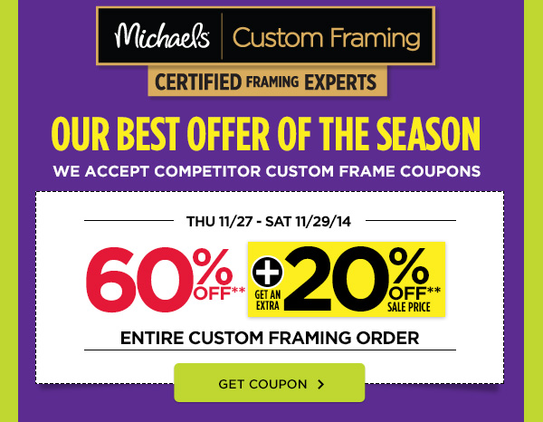 Michaels coupon framing 2018